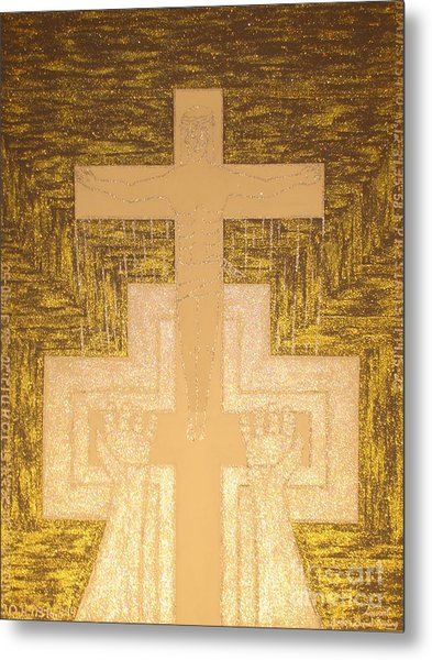 Take It To The Cross Silver Gold Metal Print by Daniel Henning