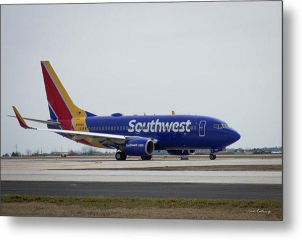 Take Off Southwest Airlines N7878a Hartsfield-jackson Atlanta International Airport Art Metal Print