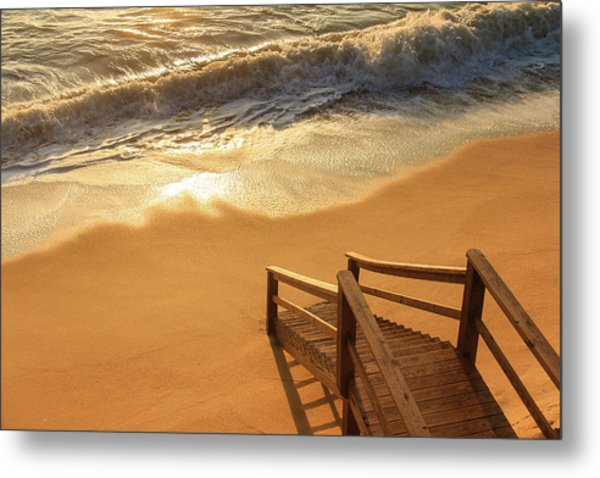 Take The Stairs To The Waves Metal Print