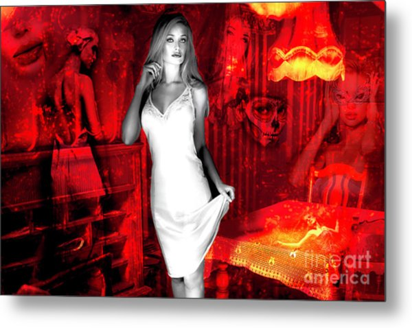 Taken To The Red Room Metal Print