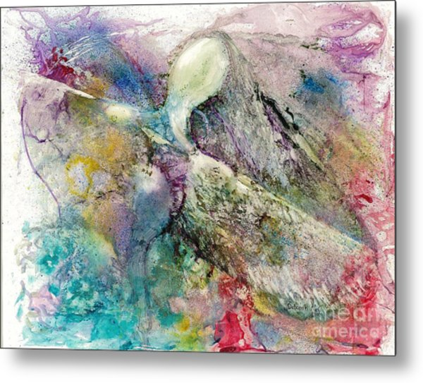 Metal Print featuring the painting Taking Flight by Deborah Nell