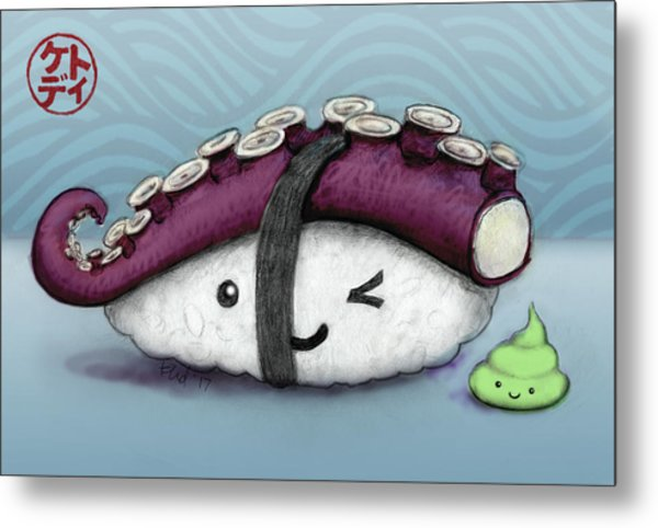 Tako And Wasabi-san Metal Print