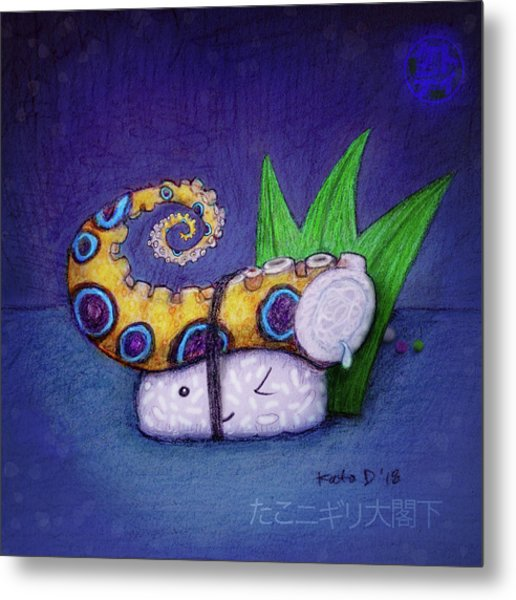 Tako Nigiri Big Excellency Metal Print