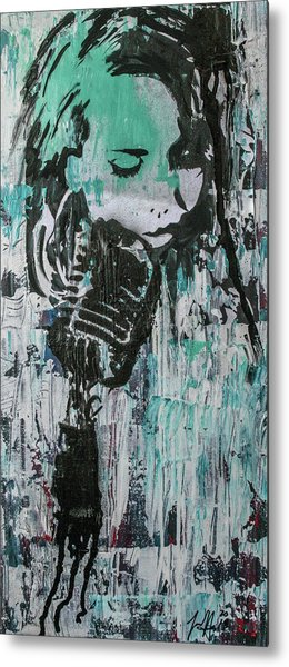 Metal Print featuring the painting Talk Til We Both Turn Blue by Jayime Jean