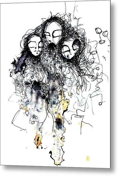 Talking To Yourself Again Metal Print by Mark M  Mellon