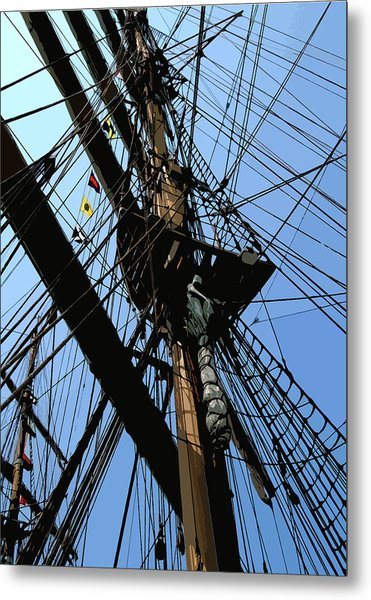 Tall Ship Design By John Foster Dyess Metal Print