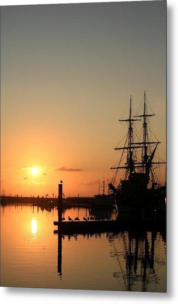 Tall Ship Lady Washington At Dawn Metal Print