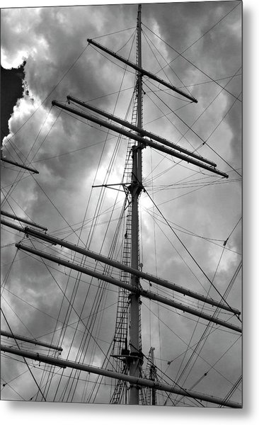 Tall Ship Masts Metal Print