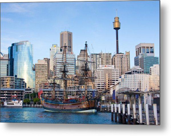 Tall Ships - Sydney Harbor Metal Print
