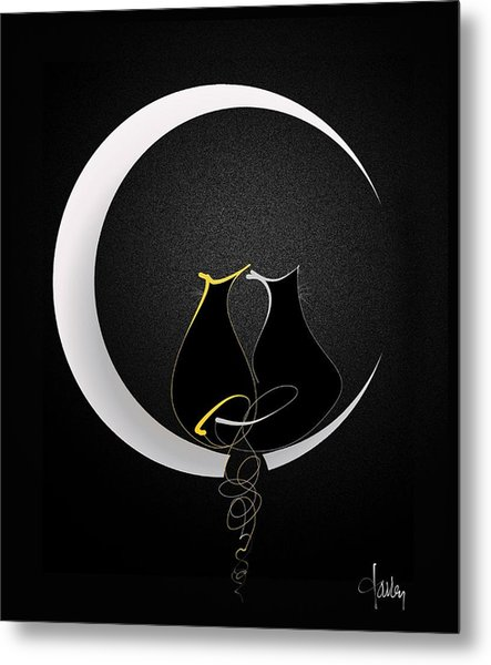 Talleycats - Moonglow Metal Print