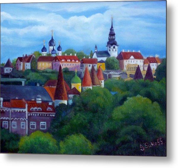 Tallinn Estonia Metal Print by Janet Silkoff