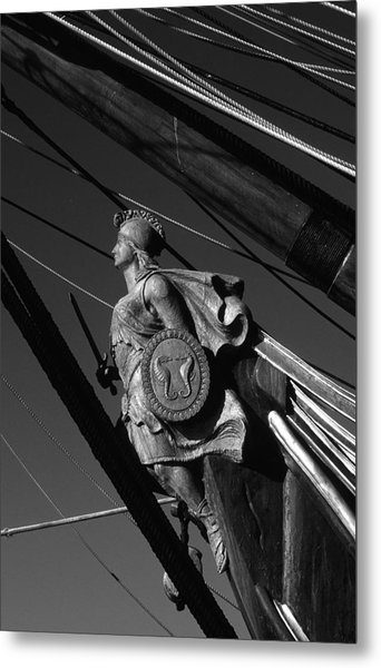 Tallship Figure Head Metal Print