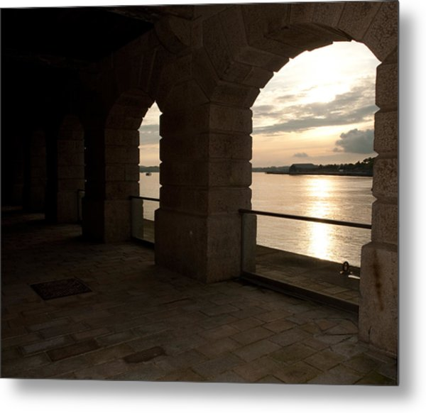 Tamar Estuary Sunset Metal Print