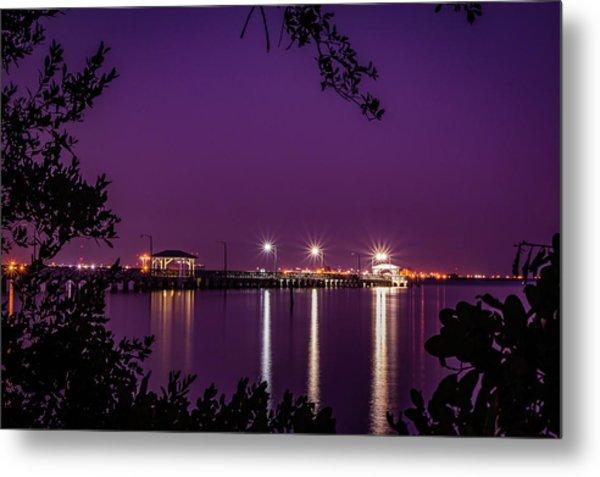 Tampa Bay Fishing Pier Metal Print