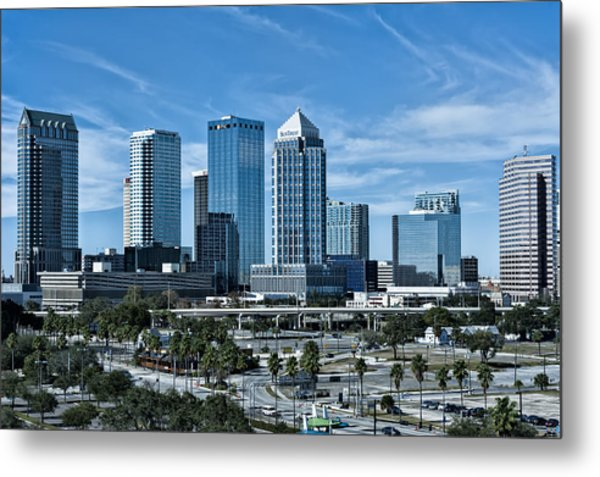 Metal Print featuring the photograph Tampa Bay Skyline by Linda Constant