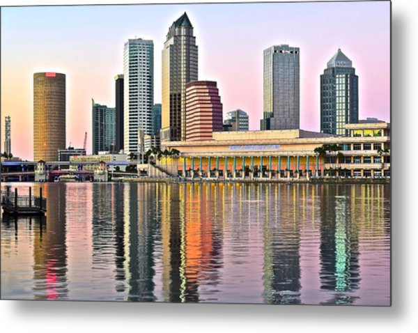 Tampa In Vivid Color Metal Print