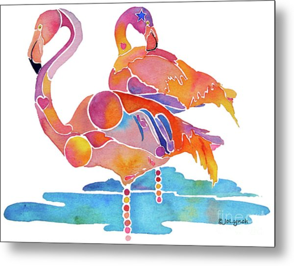 Tampa Nic Flamingos Metal Print