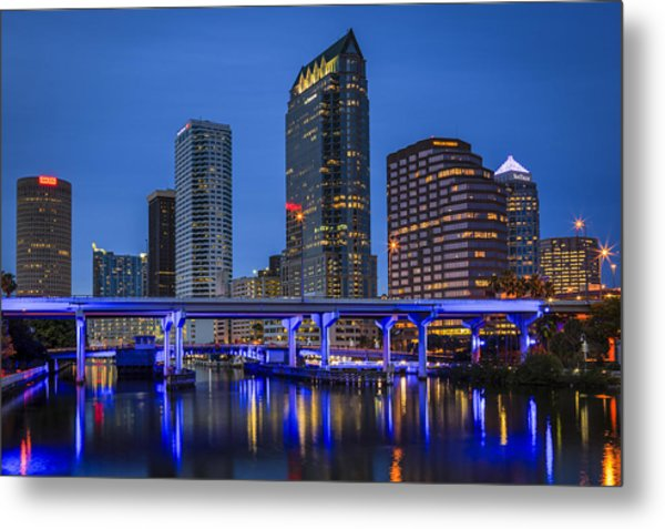 Tampa Night Metal Print