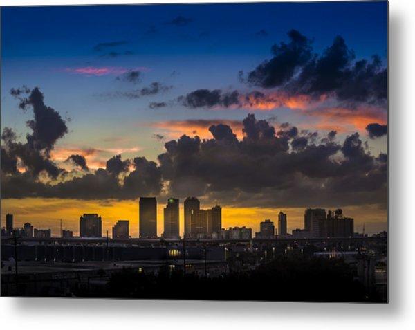 Tampa Sunset Metal Print