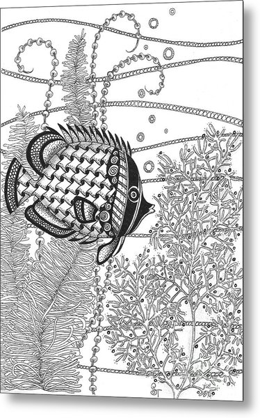 Tangle Fish II Metal Print
