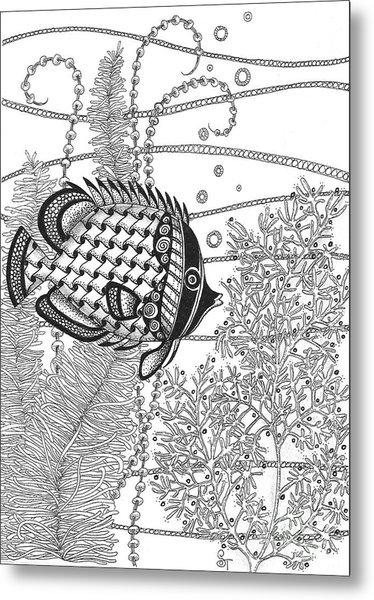 Tangle Fish II Metal Print