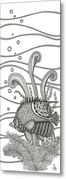 Tangle Fish Metal Print