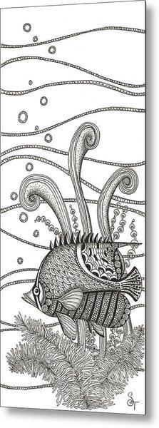 Tangle Fish Metal Print