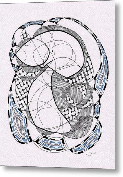 Tangle Monster Drawing Metal Print