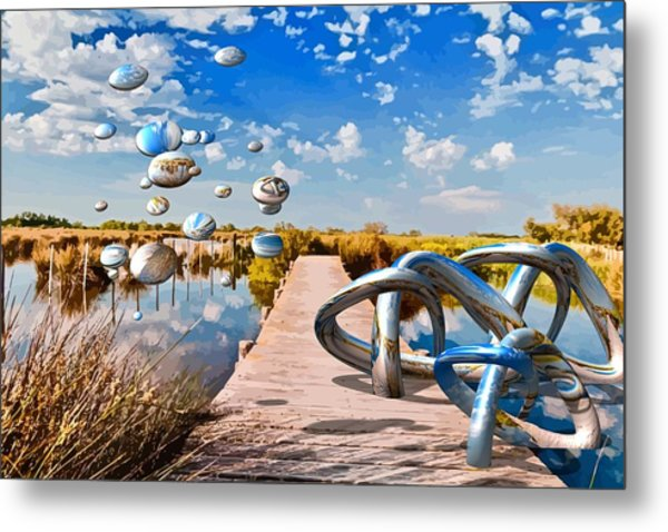 Tangle On The Boardwalk - Something's Not Right Metal Print