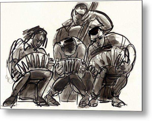 Tango Musicians Metal Print