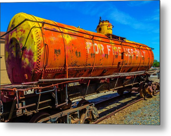 Tanker For Fire Use Only Metal Print