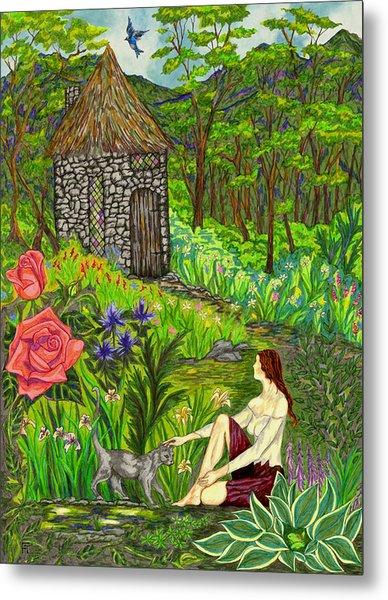 Tansel's Garden Metal Print
