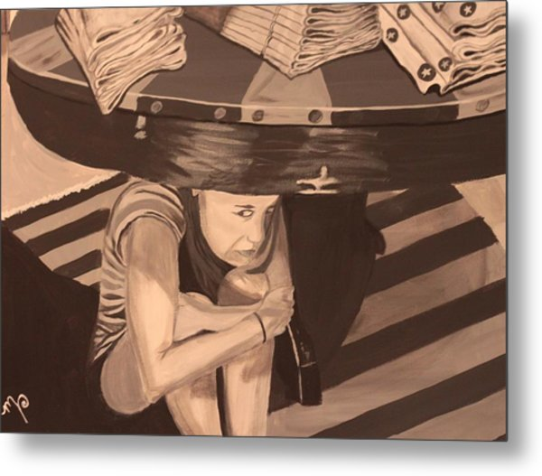 Tantrum Metal Print by Miki Proud