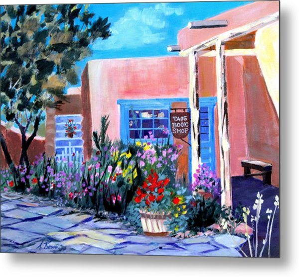Taos Book Shop Metal Print
