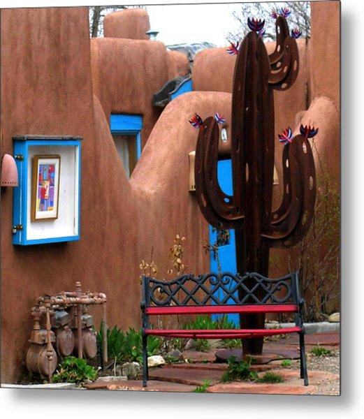 Taos Cactus Metal Print