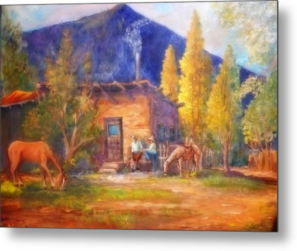 Taos Cowboys Metal Print