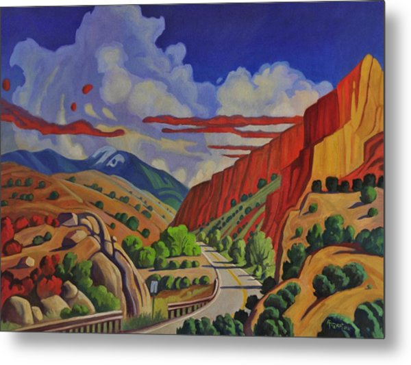 Taos Gorge Journey Metal Print