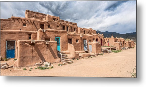Taos Pueblo New Mexico Metal Print