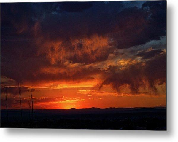 Taos Virga Sunset Metal Print