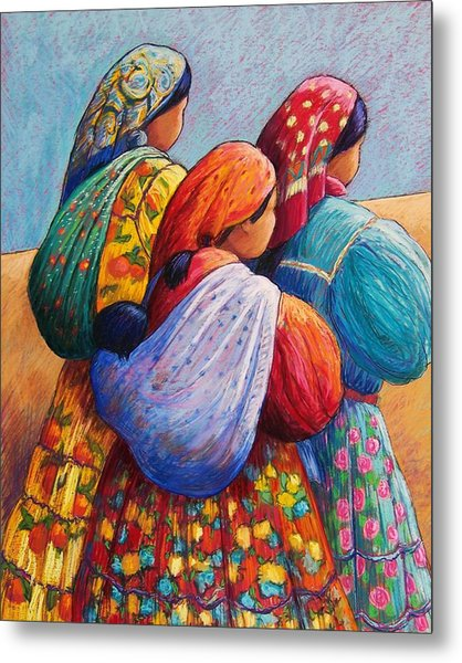 Tarahumara Women Metal Print by Candy Mayer