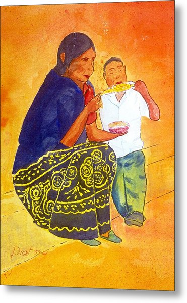 Tarascan Senora  And Nino Metal Print by Buster Dight