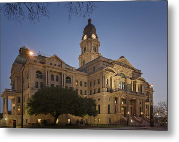 Tarrant County Courthouse Rebirth Metal Print