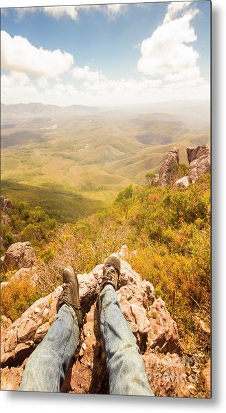 Tasmania Bushwalking Views Metal Print