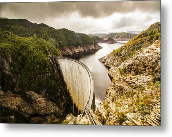 Tasmania Hydropower Dam Metal Print