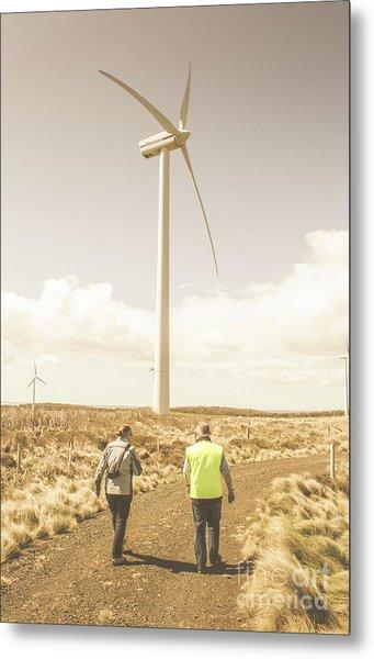Tasmania Turbine Tours Metal Print