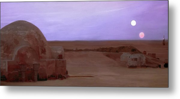 Tatooine Sunset Metal Print