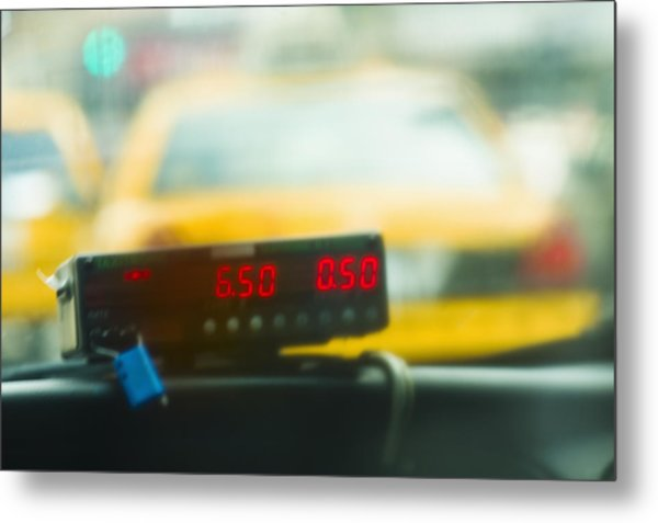 Taxi Meter Metal Print by Tetra Images