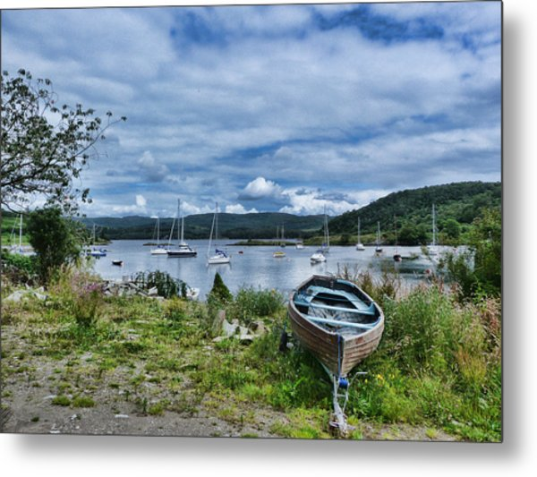 Tayvallich Harbour Metal Print