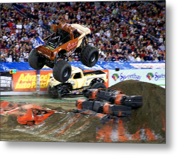 Taz Takes Flight Metal Print