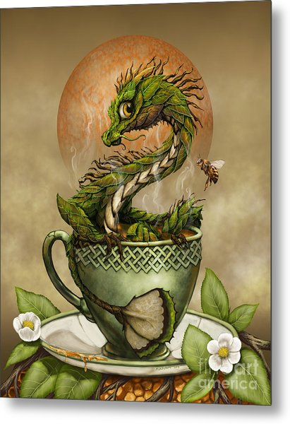 Tea Dragon Metal Print